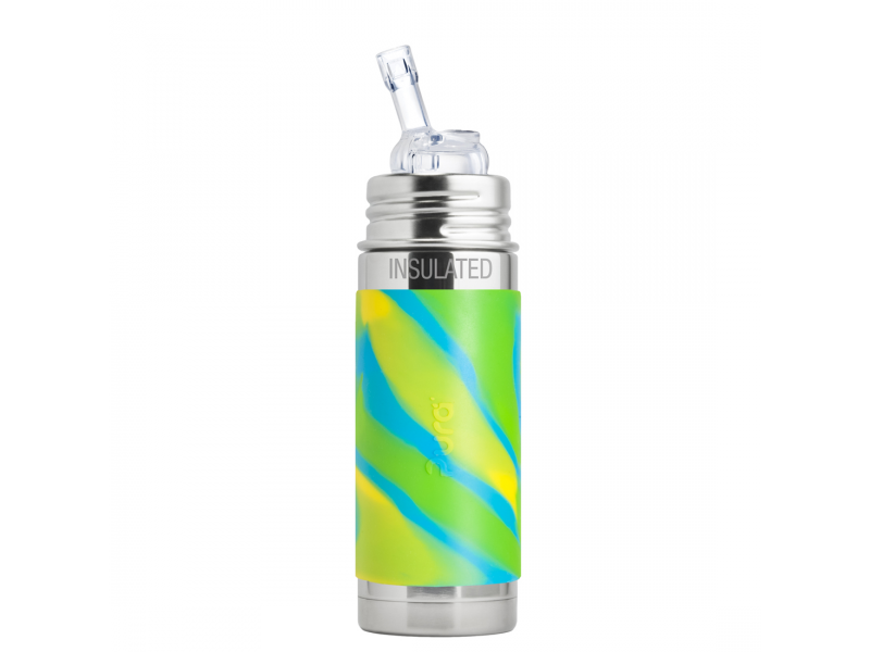 Pura TERMO láhev s brčkem 260ml - zelená-aqua