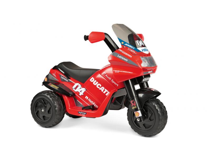 Peg Perego Dětská tříkolka DUCATI DESMOSEDICI EVO, s baterií 6V - červená