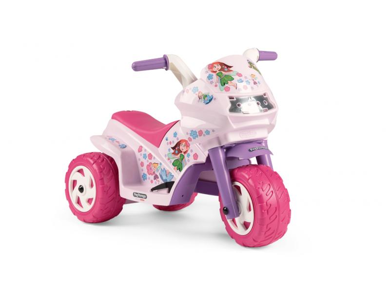 Peg Perego Dětská tříkolka DUCATI MINI EVO, s baterií 6V - růžová
