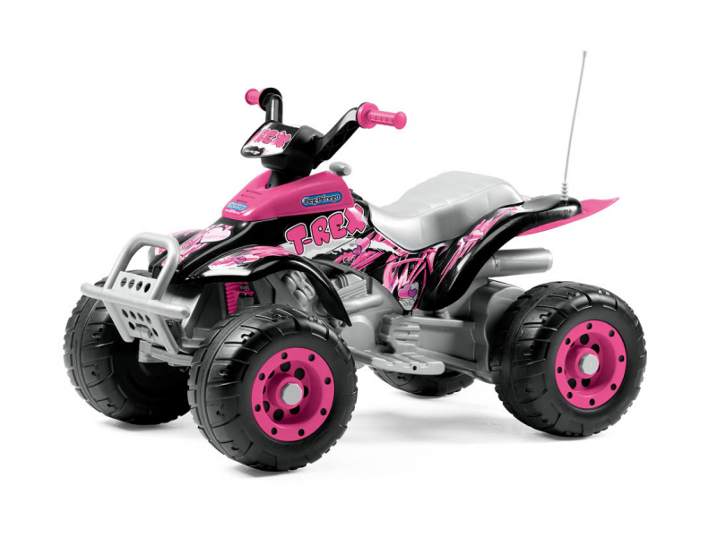 Peg Perego CORRAL T-REX pink (12V, 2 motory)