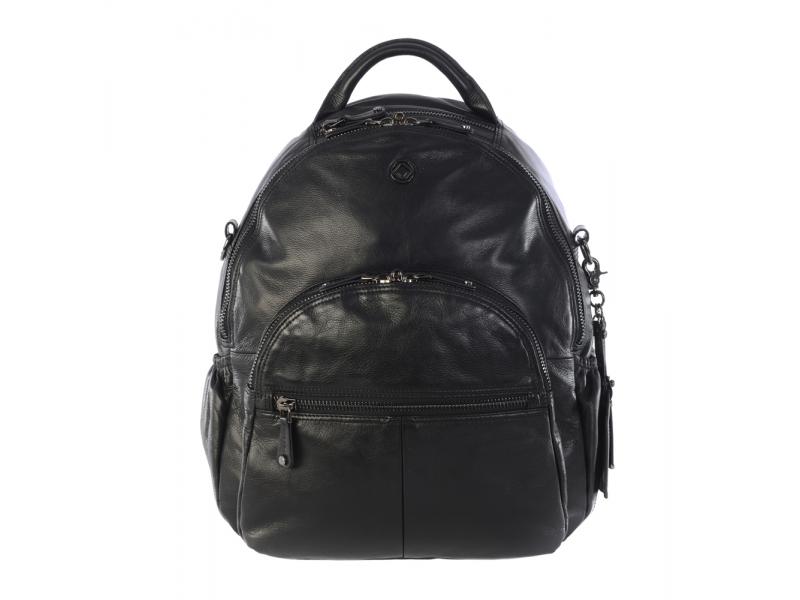 JOY XL BLACK-kožený přebalovací batoh 1