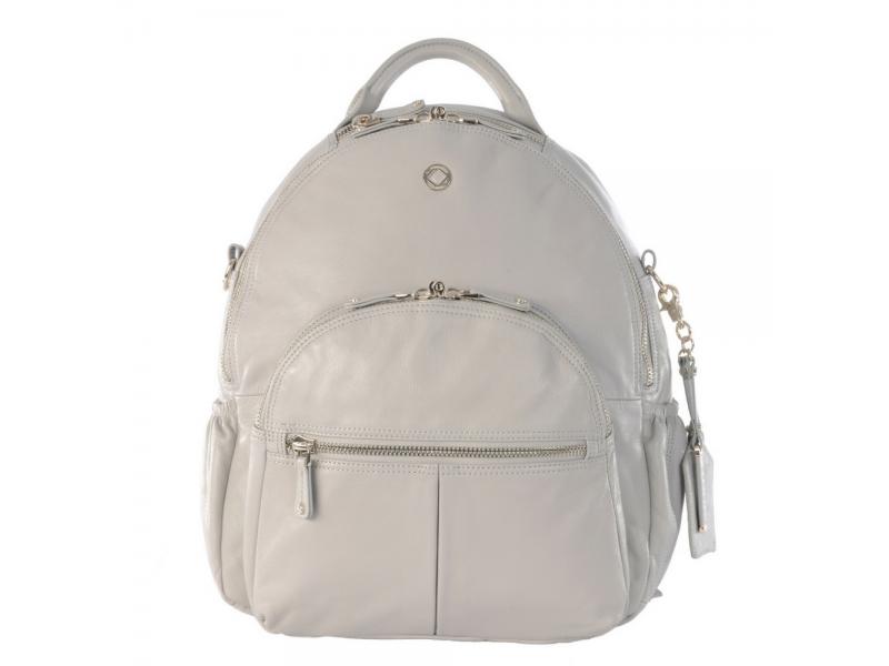 JOY XL ICE GREY - kožený přebalovací batoh 1