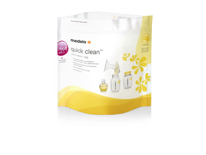Medela Quick Clean - Sáčky pro čištění v mikrovlnné troubě - bal. 20 ks