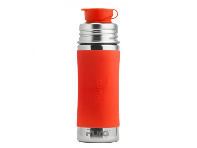 Pura Nerezová láhev se sportovním uzávěrem 325ml - oranžová