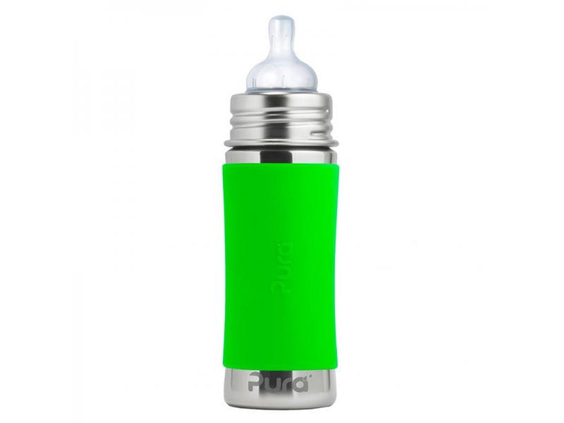 Pura Nerezová kojenecká láhev 325ml - zelená