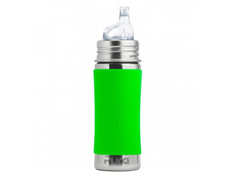 Pura Nerezová láhev s pítkem 325ml - zelená