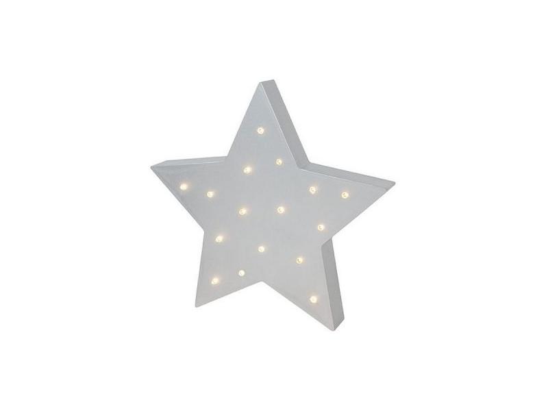 Dřevěná Led lampa, hvězda 1