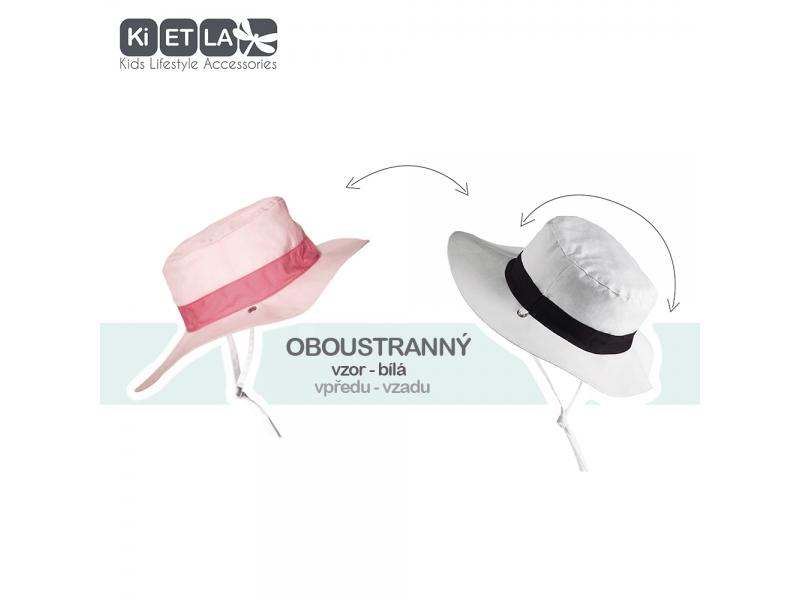 Klobouček oboustranný s UV ochranou -54cm - panama pink 1
