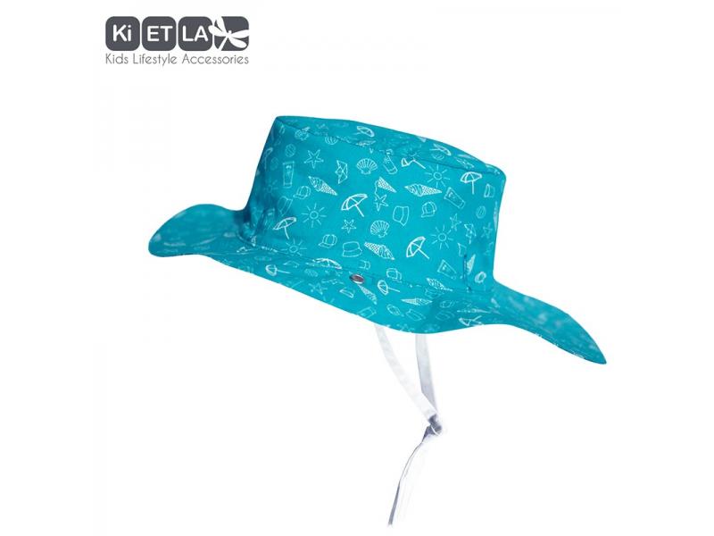 Ki ET LA Klobouček oboustranný s UV ochranou-56cm - swimming pool