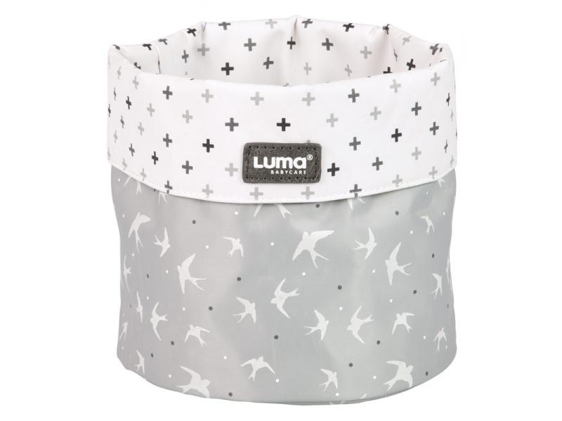 Luma odkládací košík Sparkling silver