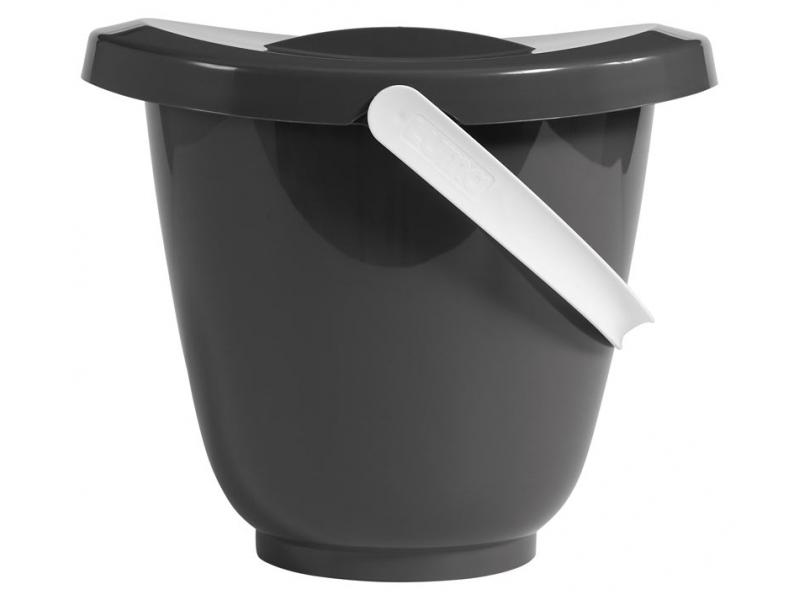 Kyblík na pleny s víkem dark grey 1