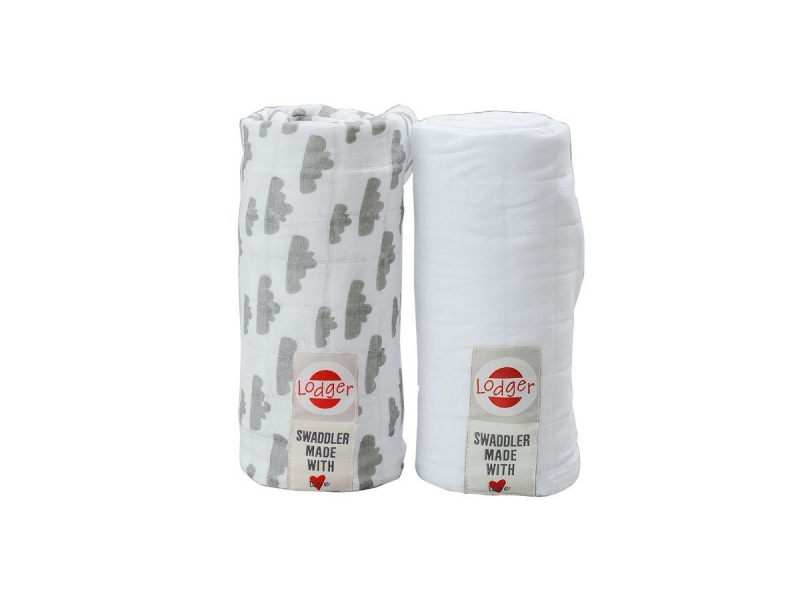 Lodger Swaddler balení 2ks Grey/White