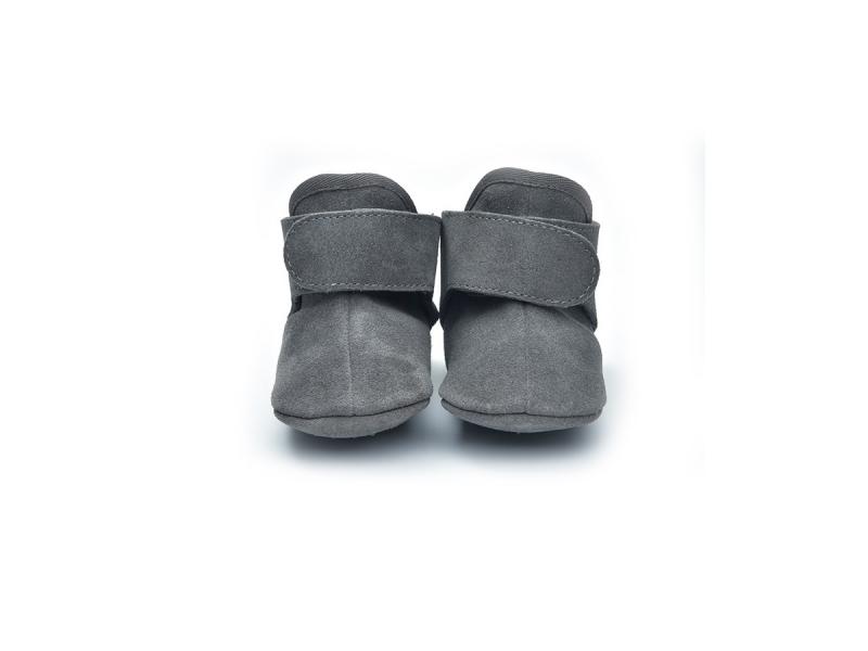 Walker Leather Basic Dark Grey 6 - 12 měsíců 1