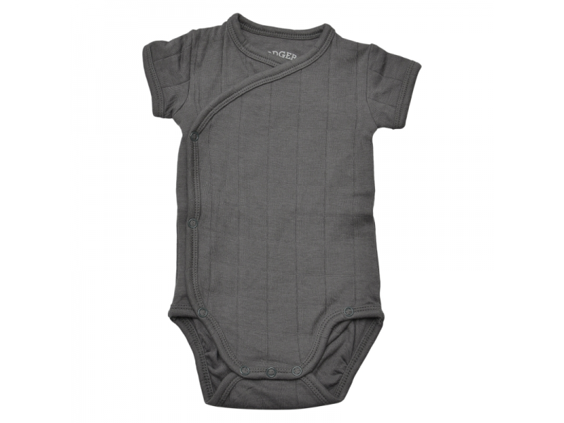 Body Romper Fold Over Solid Carbon vel. 68 1