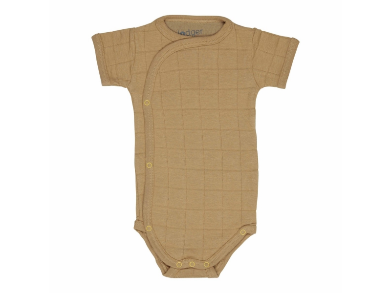 Lodger Romper Solid Short Sleeves Honey vel. 68