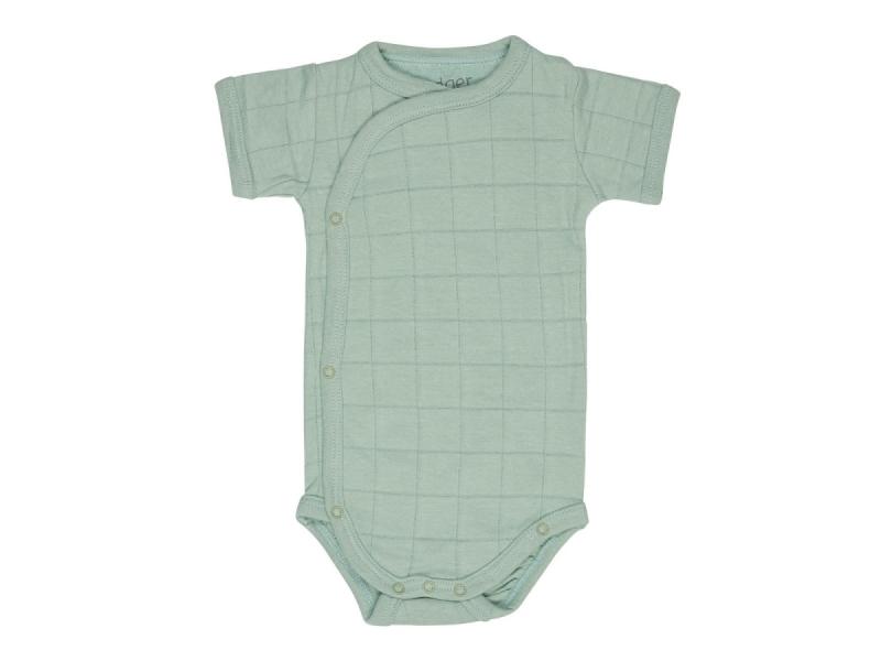 Romper Solid Short Sleeves Silt Green vel. 68 1