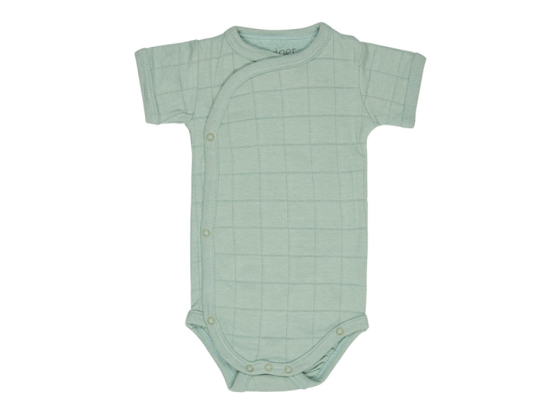 Romper Solid Short Sleeves Silt Green vel. 74 1
