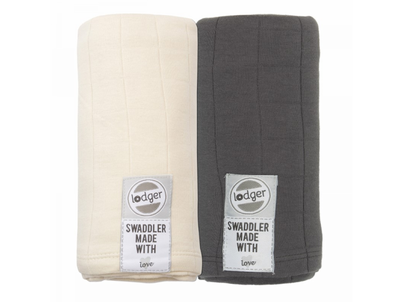 Swaddler Solid 2balení Carbon/Ivory 1