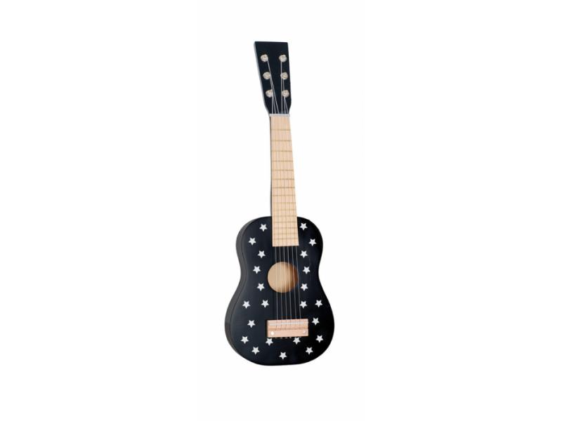 Dřevěná kytara černá 1