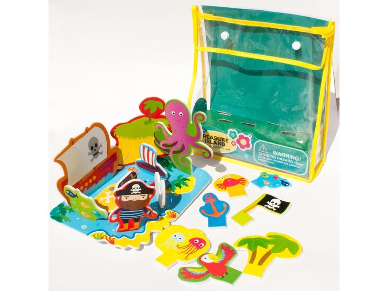 Meadow Kids Sada pěnových hraček do vany Ostrov pokladů