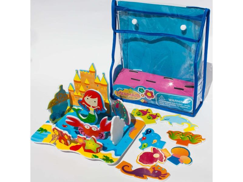 Meadow Kids Sada pěnových hraček do vany Mořská panna