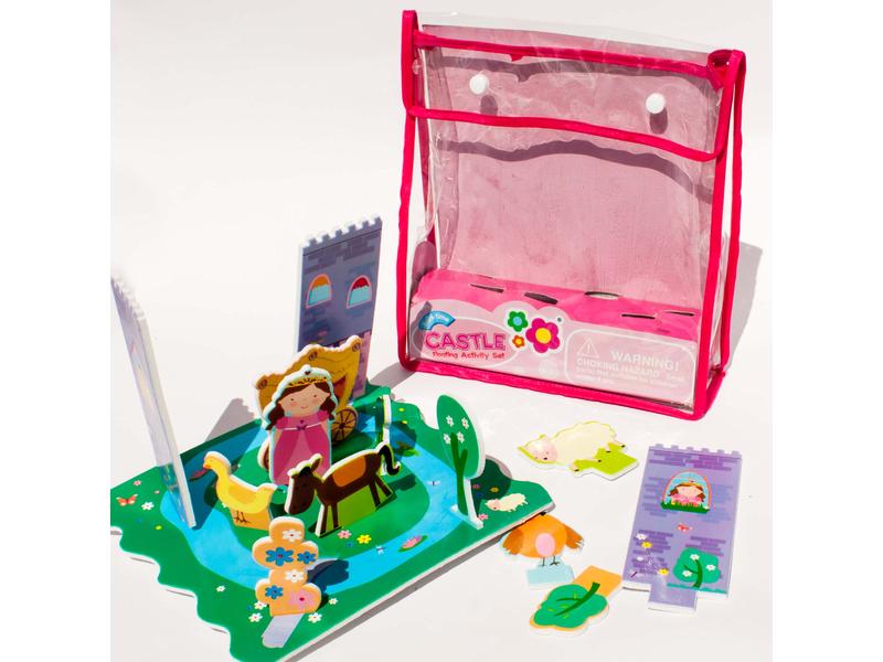 Meadow Kids Sada pěnových hraček do vany Pohádkový zámek