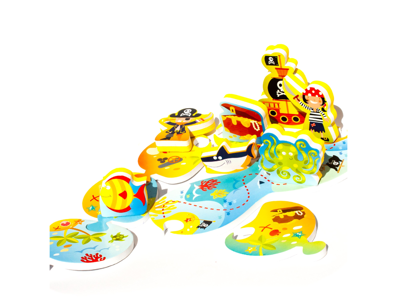 Meadow Kids Puzzle do vany / bazénku Ostrov pokladů