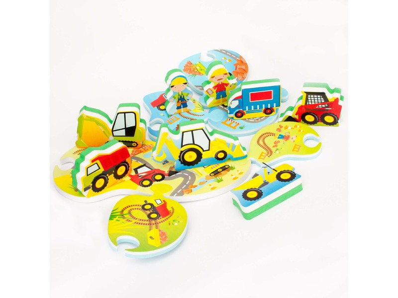Meadow Kids Puzzle do vany / bazénku Stavba