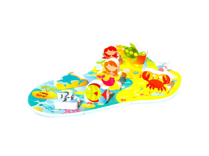 Meadow Kids Puzzle do vany / bazénku Mořská panna