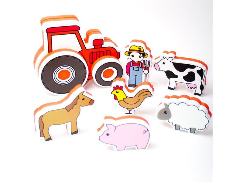 Meadow Kids Pěnová stavebnice do vany / bazénku Traktor