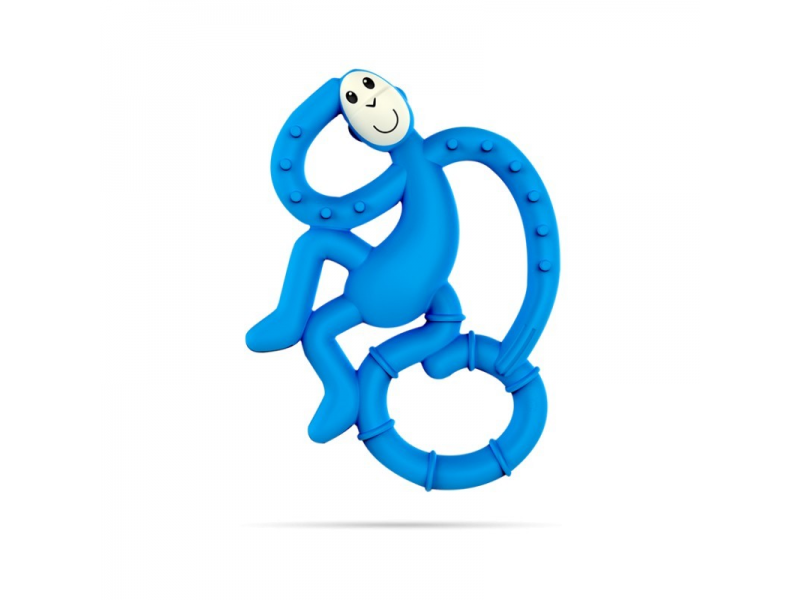 BioCote® Mini Monkey Teether, Modrá 1