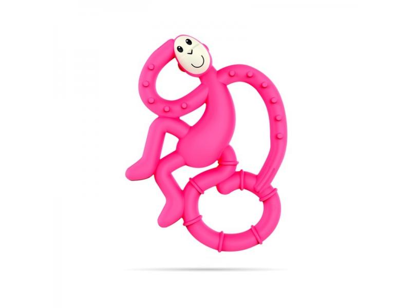 BioCote®  Mini Monkey Teether, Ružová 1
