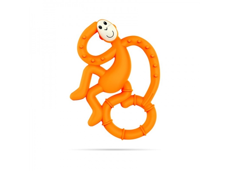 BioCote®  Mini Monkey Teether, Oranžová 1