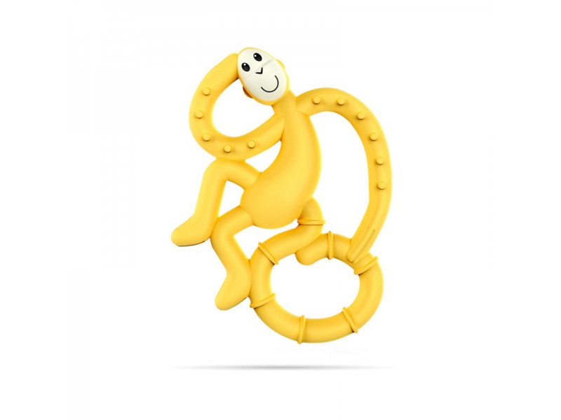 BioCote®  Mini Monkey Teether, žlutá 1