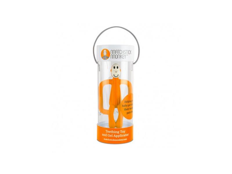 Matchstick Monkey Teether and Gel Applicator, oranžová