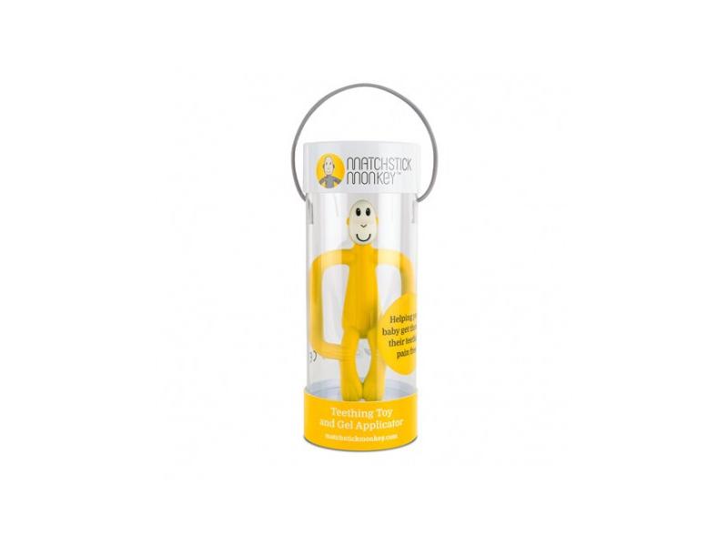 Matchstick Monkey Teether and Gel Applicator, žlutá