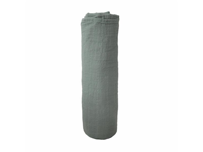 mušelínová zavinovačka z organické bavlny Roman Green 1