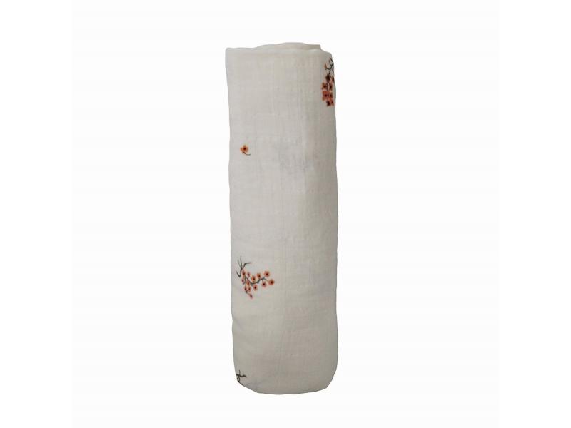 mušelínová zavinovačka z organické bavlny Flowers 1