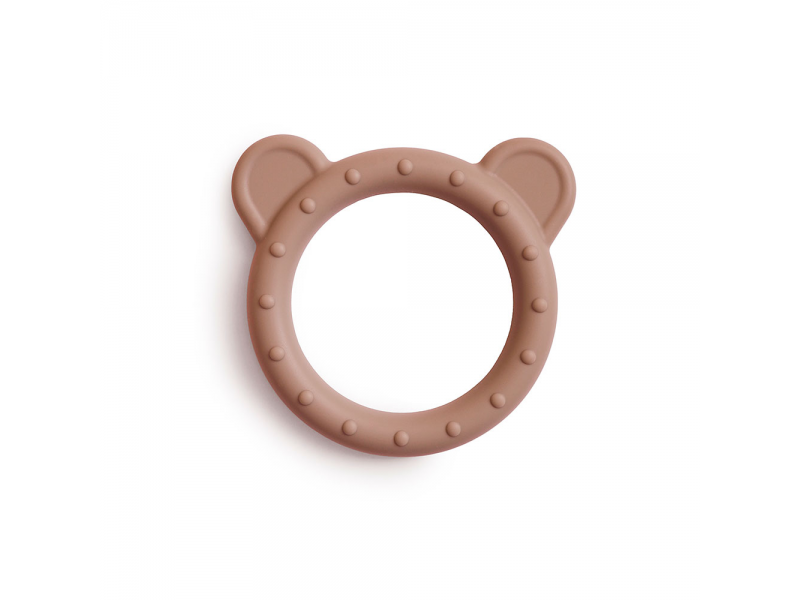 silikonové kousátko BEAR, Natural 1