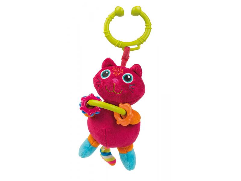 O-oops Easy-Long Friends! - Vibrační závěsná hračka Kočka
