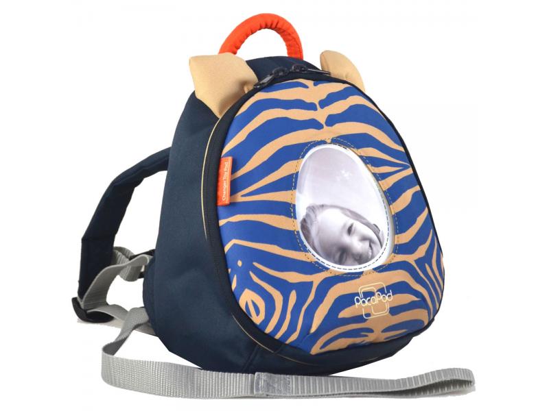 PacaPod BATŮŽEK Toy Pod zebra - modrý