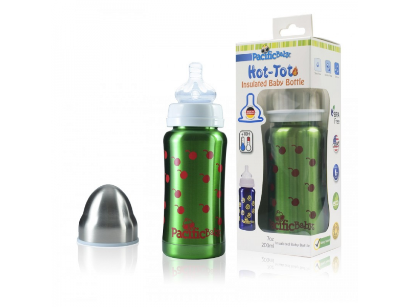 Pacific Baby Hot-Tot Termoska 200ml Zelená - třešně