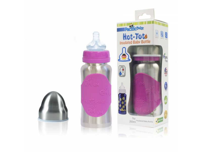Pacific Baby Hot-Tot Termoska 200ml Růžová/ Stříbrná