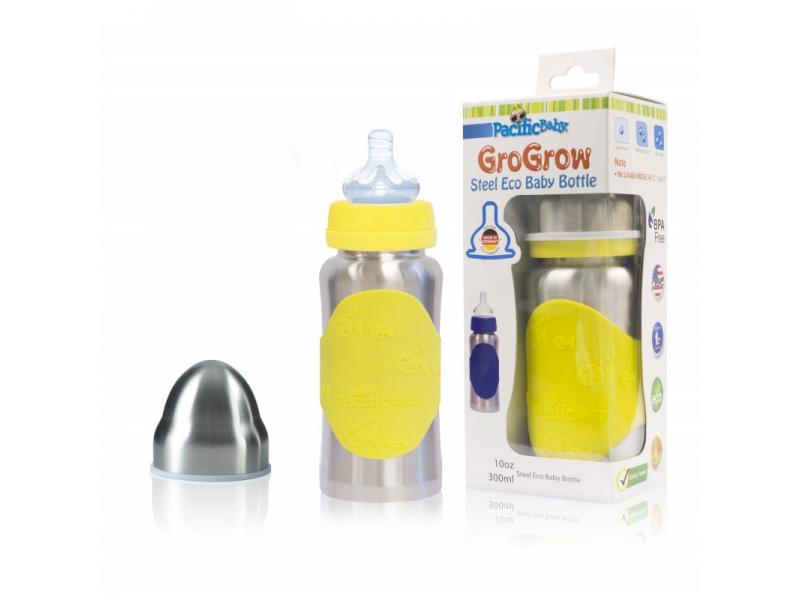 Pacific Baby GroGrow Nerezová ekololáhev 300ml Žlutá