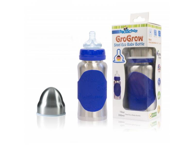 Pacific Baby GroGrow Nerezová ekololáhev 300ml Modrá