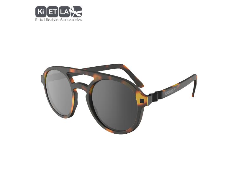Ki ET LA Dětské sluneční brýle CraZyg-Zag 9-12 let pilotky - hnědé