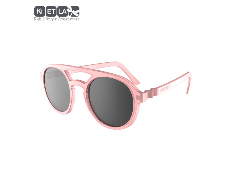 Ki ET LA Dětské sluneční brýle CraZyg-Zag 9-12 let pilotky - růžové