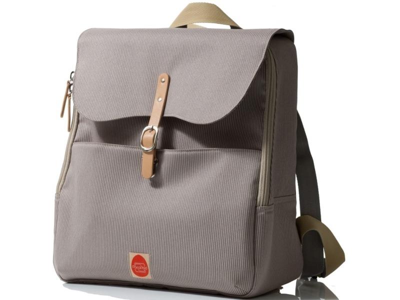 PacaPod HASTINGS šedo-béžový - batoh i přebalovací taška