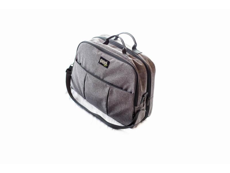 Bizzi Growin Cestovní a přebalovací taška POD 2 v 1 šedá