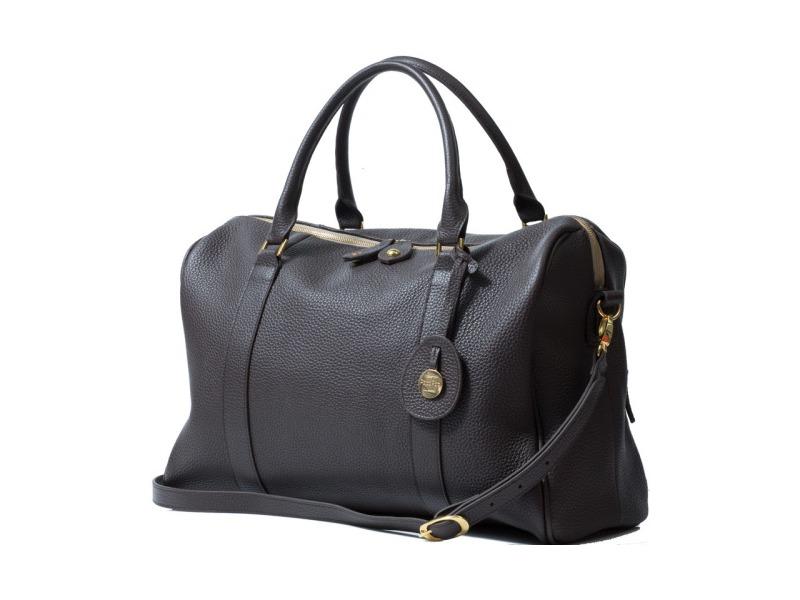 PacaPod FIRENZE čokoládová - luxusní kožená kabelka i přebalovací taška